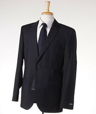NWT $895 HUGO BOSS 'The James/Sharp' Black-Gray Fine-Stripe Wool Suit 38 R