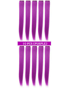 """23"""" Straight Synthetic Colored Party Highlight Clip in Hair Extensions"""