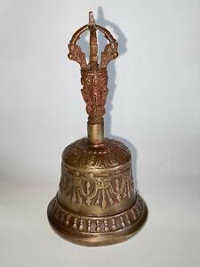 Buddhist Tibetan Brass Prayer Dorje Bell from Nepal