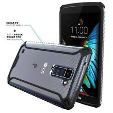 For LG K8 Poetic [Slim Thin] TPU Bumper Shockproof Black Cover Case