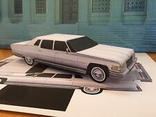 PaperCraft Cadillac Series 75 Factory Limousine Paper Model Car EZU-make