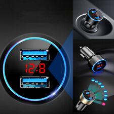 3.1A Usb Car Phone Cigarette Charger Lighter Digital Led Voltmeter Accessories (Fits: Charger)