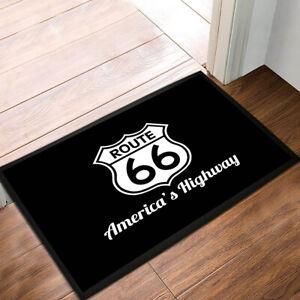 Route 66 American Retro Black Door mat 60 x 40 cm -  door mat Home bar, pubs