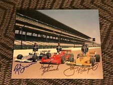 1976 Front Row Signed Indy 500 8x10 Johnny Rutherford Gordon Johncock Tom Sneva