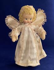 "Rare Antique 1930 Richard Krueger Little Angel 10"" Painted Press Mask Felt Doll"