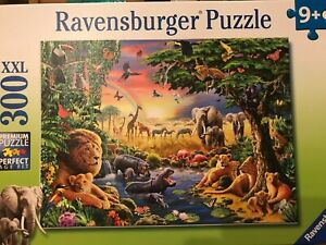 Ravensburger Puzzle- 300 Pieces Evening Sun at the Watering Hole