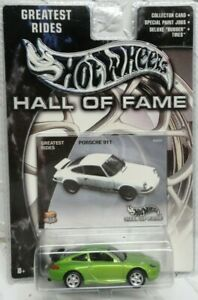 Hot Wheels 2003 Hall Of Fame Porsche 911 GT3 Cup green,excellent card