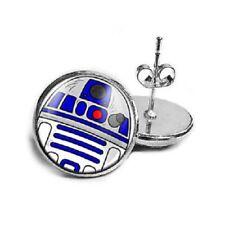 UK STAR WARS R2 D2 ROBOT STUD EARRINGS Jewellery Gift Idea Kitsch Cosplay Geek