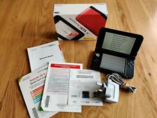Nintendo 3DS console XL red + power supply boxed with manuals free P&P