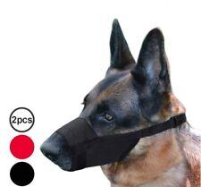 Adjustable Dog Muzzle Nylon Mask Safety Dog Mouth Cover Set 2PCS Anti Bark Bite