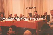 FOTO CONFERENZA LA STAMPA CITTA' DI ALBENGA SINDACO ANGELO VIVERI 1980ca C7-300