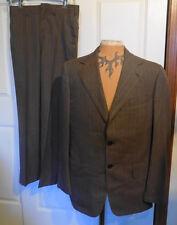 Vintage Brown Striped Wool Suit Wanamakers 39 Reg