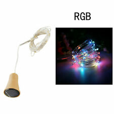 1.5M 15 LED Cork String Light Solar Power Multicolour RGB Wine Bottle Decor Lamp