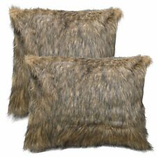 Fm701a Tan Brown Black Extra Long Faux Fur Cushion Cover/Pillow Case*Custom Size