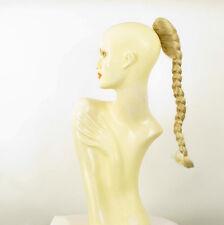 Hairpiece ponytail plait 19.69 long golden blond blond wick clear 4/24bt613