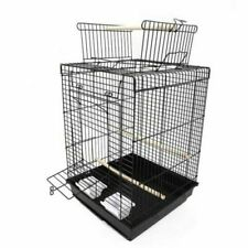 "23"" Bird Cage Pet Supplies Metal Cage with Open Play Top Black"