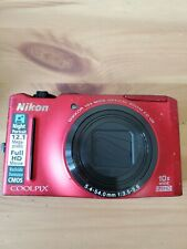 Nikon COOLPIX S8100 12.1MP Digital Camera -Red