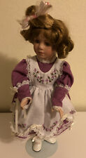 """Paradise Galleries Talking memories- """"Michelle"""" 17"""" Porcelain Doll w/stand"""