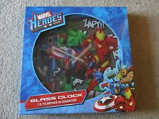 Marvel Heroes Glass Clock 13.75 Inches Diameter 3E Direct 2010