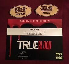 True Blood Bellefleur's Bar & GrIll Sookie & Mike Badges w/COA Anna Paquin