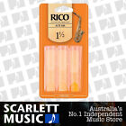 Rico Alto Sax Eb Saxophone 3 Pack Reeds Size 1.5 ( 1 1/2 - One And a Half ) 3PK