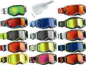 Scott USA Prospect Goggle Works Lens Add Tearoffs Motocross Off-Road MX/ATV/UTV