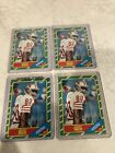 1986 Topps Jerry Rice #161 Rookie Card San Fransico 49ers HOF Vintage Lot Of 4