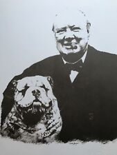 Lot of 4 Winston Churchill Lithographs Signed Sarah Churchill Limited Edition