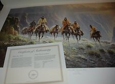 G Harvey MEN OF THE AMERICAN WEST - S/N paper Limited Edition RARE 1988 Cowboys