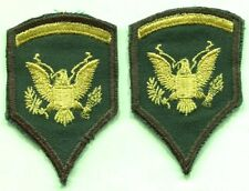 US Army Woman's Specialist E5 Sleeve Rank Patch Pair SPEC-5 Stripes Cut Edge