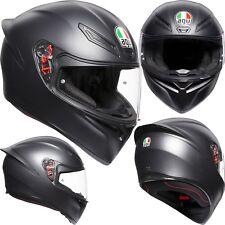 AGV Helm K-1 SOLID schwarz matt K1 Integralhelm Motorradhelm Integral MS 57