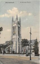 POSTCARD   DORSET   BOURNEMOUTH   St  Michaels  Church