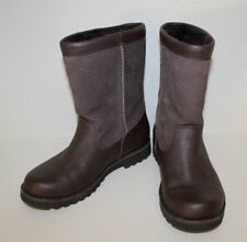 Ugg Australia Womens Riverton Boots Sz 5 Brown Leather / Suede Sheepskin 3296