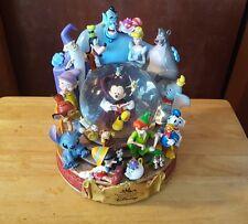 "Disney Store Wonderful World Of Disney Snowglobe ""When you wish Upon A Star"""