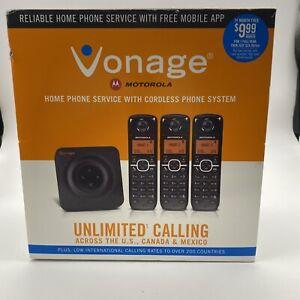 Vonage HT802-CVR Cordless Home Portable Phone System Service Motorola Handsets