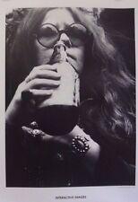 Janis Joplin & Bill Graham | Orig 2000s Poster from 1970s Grant Jacobs Photo
