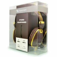 Nakamichi NK900 Studio Headphones Brown / Gold w/Mic Remote  and Volume Control!