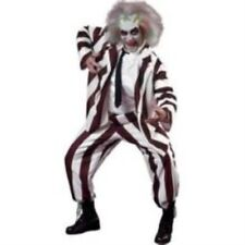 Deluxe Beetlejuice 1980s Halloween Mens Fancy Dress Costume L-XL P6981