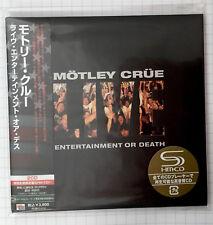 MOTLEY CRUE-Live Entertainment Or Death JAPAN SHM MINI LP 2CD NEU! UICY-93498-9
