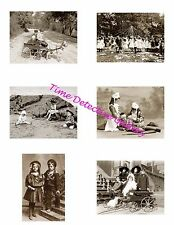 Vintage Children #1 - Photo Collage for Scrapbooking / Crafts / ATCs / ACEOs