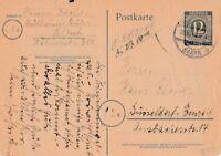 Postkarte Jahr 1946 verschickt von Mülheim-Selbeck nach Düsseldorf