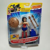 DC Justice League Action WONDER WOMAN 4.5 inch POWER CONNECTS Action Figure -NEW