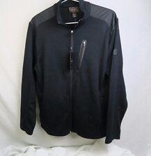 Greg Norman For Tasso Ella Men's Sweater Fleece Jacket Small Black