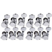 12 Lefty Guitar Locking Tuners Tuning Pegs Keys Machine Heads For Electric Parts