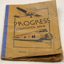 PROGRESS COMPOSITION BOOK 1952  (W-4-B-28)