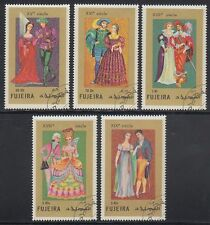 Fujeira 1972 Mi.870/74 A fine used c.t.o. Bekleidung Clothes Trachten Costumes