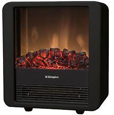 Electric Fire Place Heater 1500W Watt Flame Heat Black Log Free Standing NEW