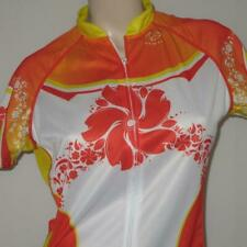 Primal Womens LARGE Primal Cycling Jersey Tiki Orange White Red Sublimation