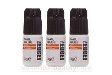 3 x The Edge Nail Adhesive Glue 3g - nail enhancements, acrylics, tips