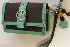 Pochette compacte Femme vert turquoise appareil photo etc courroie , dragonne